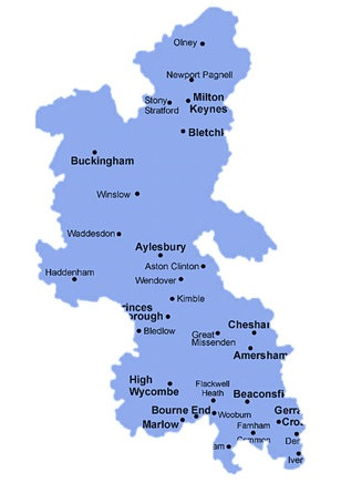 Buckinghamshire Rental Map