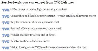 service levels to expect from TVC