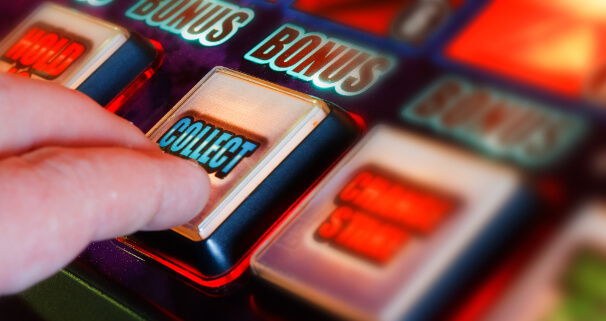 fruit machine collect button