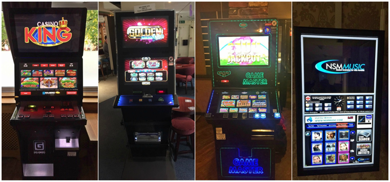 A variety of fruit machines and digital gaming from TVC Leisure