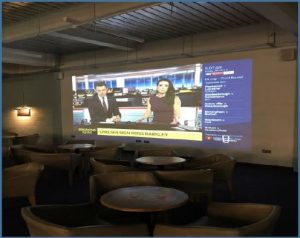 HD TV projector installed in Oxford pub