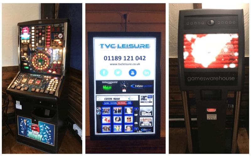 TVC Juxebox, Fruit Machine and Paragon Quiz Machine
